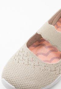 Skechers - SEAGER - Ankle strap ballet pumps - natural - 2
