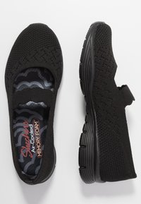 Skechers - SEAGER - Ankle strap ballet pumps - black - 3