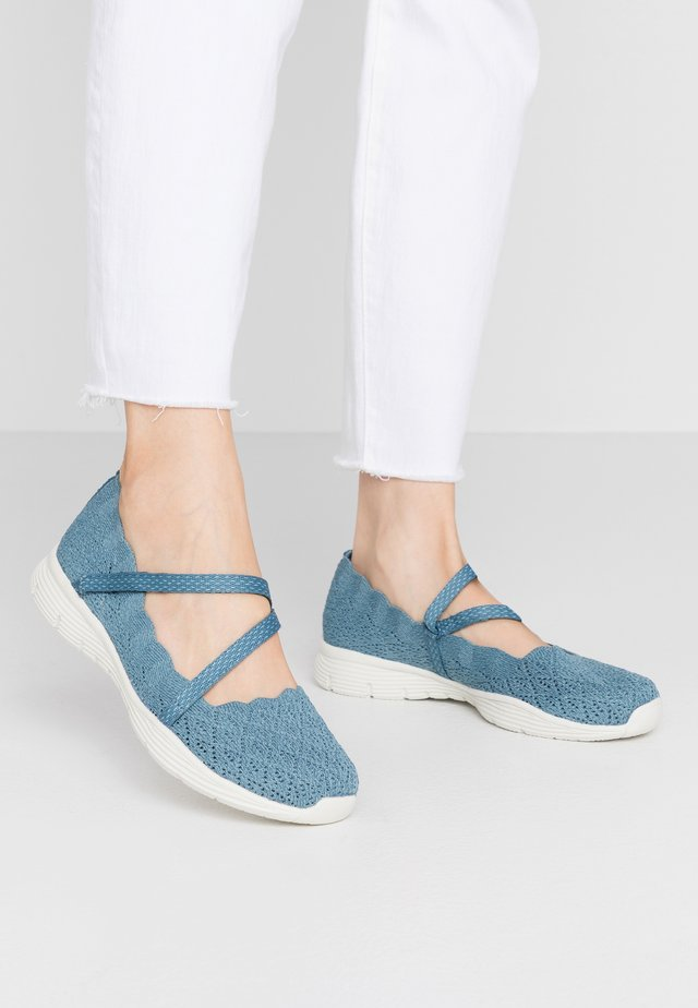 SEAGER - Ankle strap ballet pumps - denim