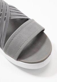 Skechers - LIGHT STAR - Platform sandals - gray - 2