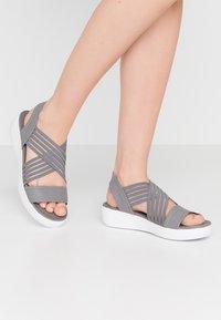 Skechers - LIGHT STAR - Platform sandals - gray - 0