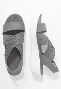 Skechers - LIGHT STAR - Platform sandals - gray - 3