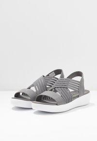Skechers - LIGHT STAR - Platform sandals - gray - 4