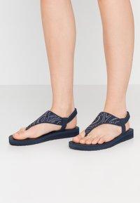 Skechers - MEDITATION - T-bar sandals - navy - 0