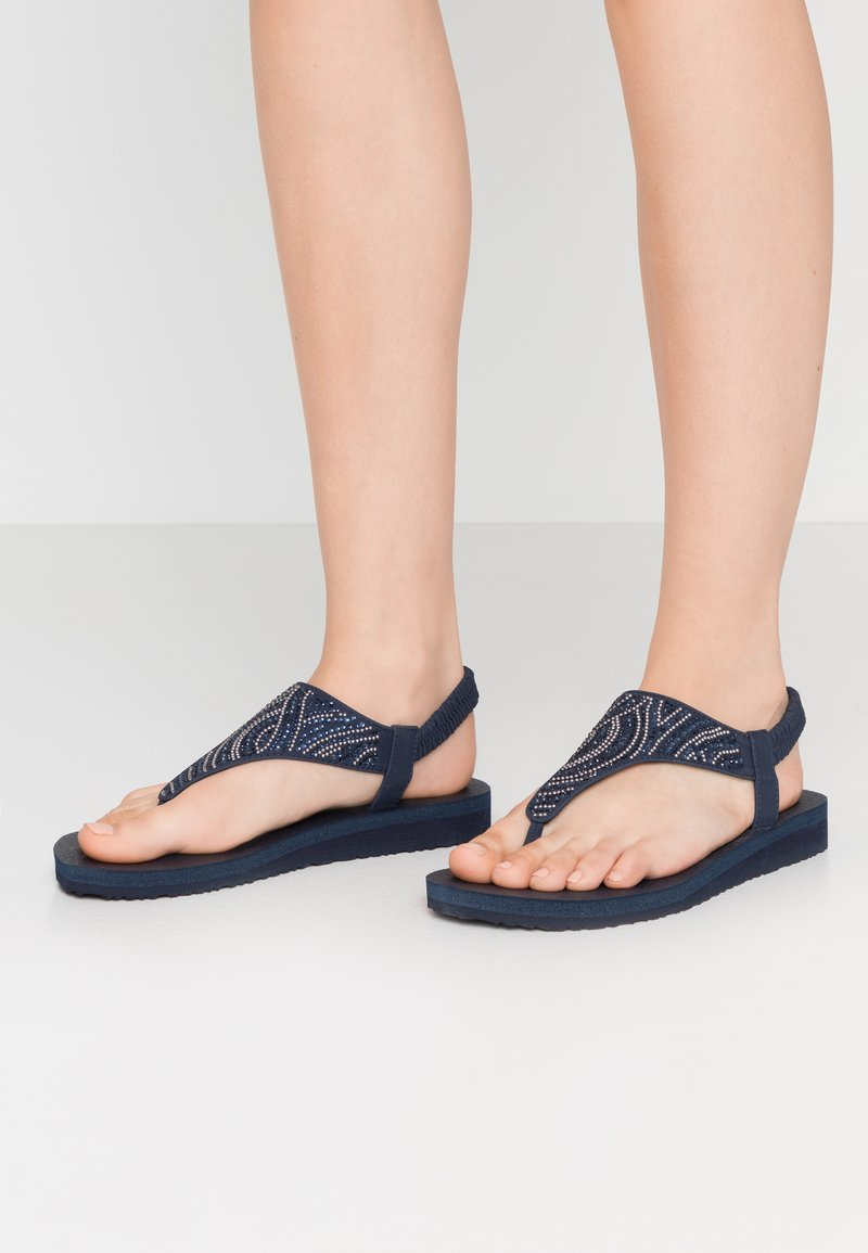 Skechers - MEDITATION - T-bar sandals - navy