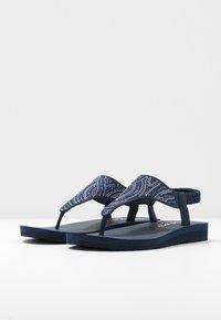 Skechers - MEDITATION - T-bar sandals - navy - 4