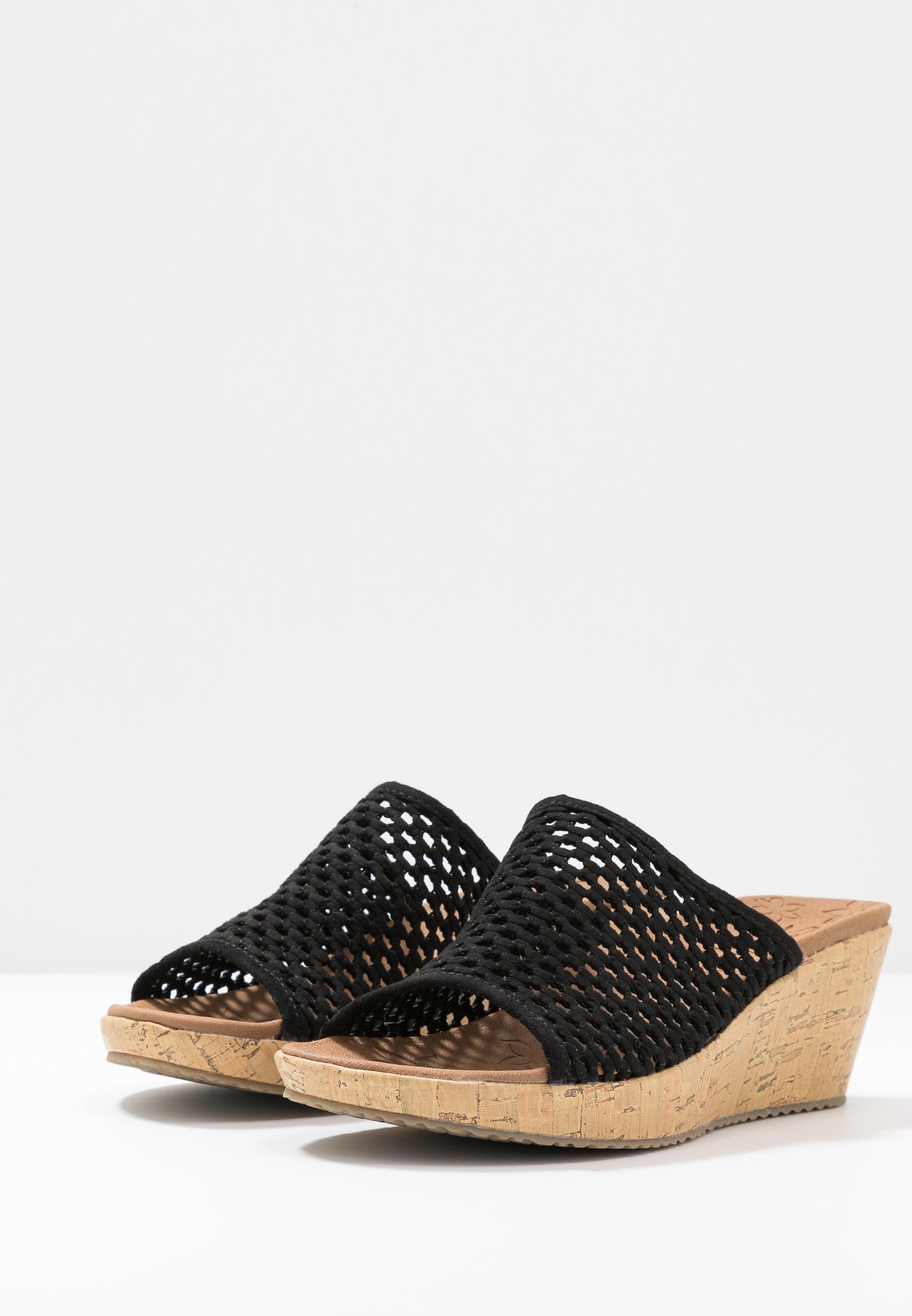 Skechers BEVERLEE - Heeled mules - black