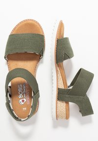 Skechers - DESERT KISS - Wedge sandals - olive - 3