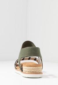 Skechers - DESERT KISS - Wedge sandals - olive - 5