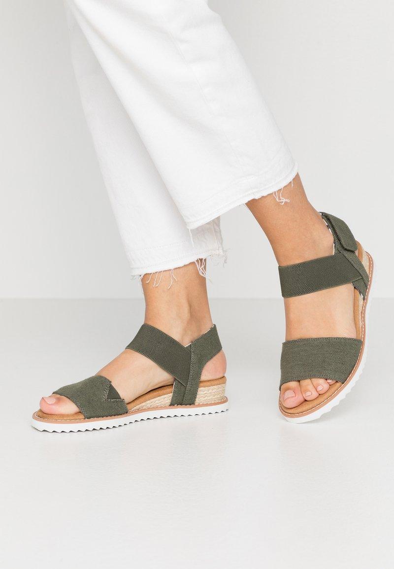 Skechers - DESERT KISS - Wedge sandals - olive