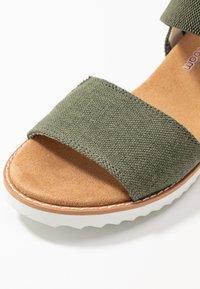 Skechers - DESERT KISS - Wedge sandals - olive - 2