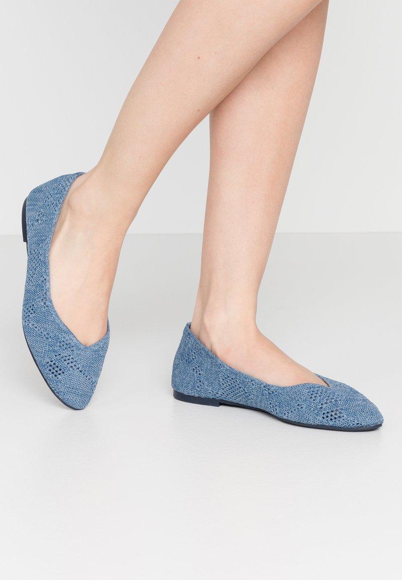 Skechers - CLEO - Ballet pumps - denim