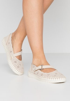 SEPULVEDA BLVD - Ankle strap ballet pumps - natural
