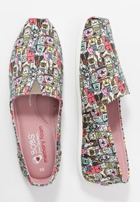 Skechers - BOBS PLUSH - Slip-ons - taupe/multicolor - 3