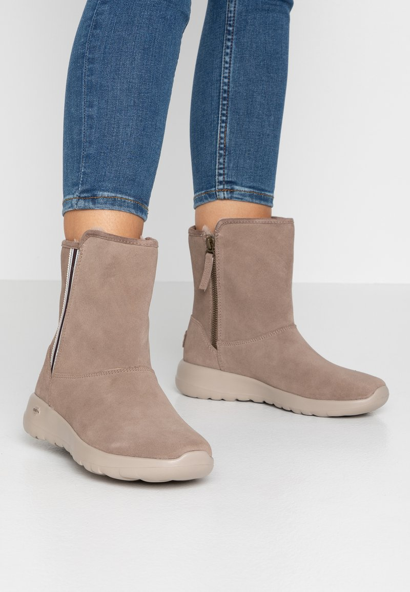 Skechers - ON THE GO JOY - Classic ankle boots - dark taupe