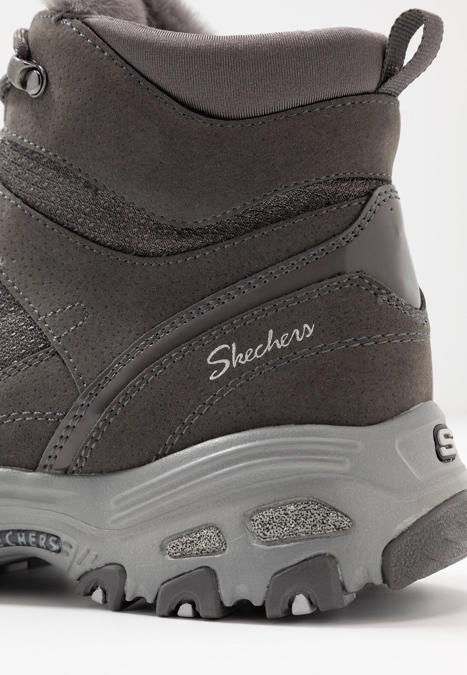 Skechers D'LITES D'LICIOUS Stivaletti stringati charcoal