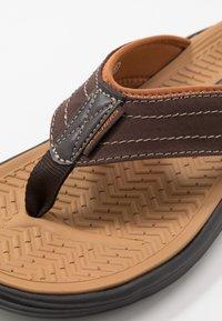 Skechers - SARGO - T-bar sandals - chocolate - 5