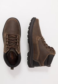 Skechers - SEGMENT - Lace-up ankle boots - chocolate - 1