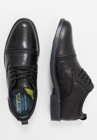 Skechers - BREGMAN - Šněrovací boty - black - 1