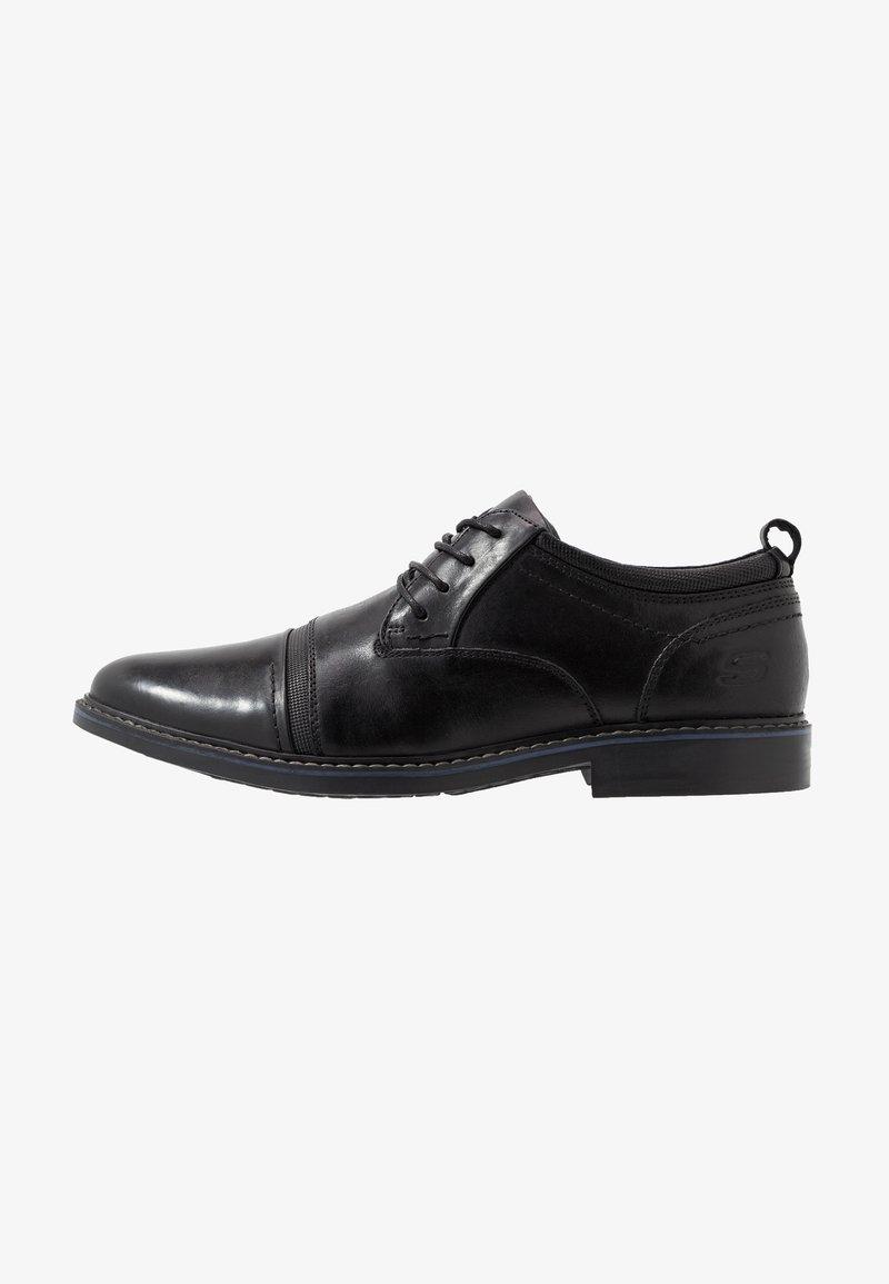 Skechers - BREGMAN - Šněrovací boty - black