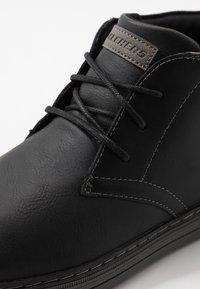 Skechers - HESTON - High-top trainers - black - 5