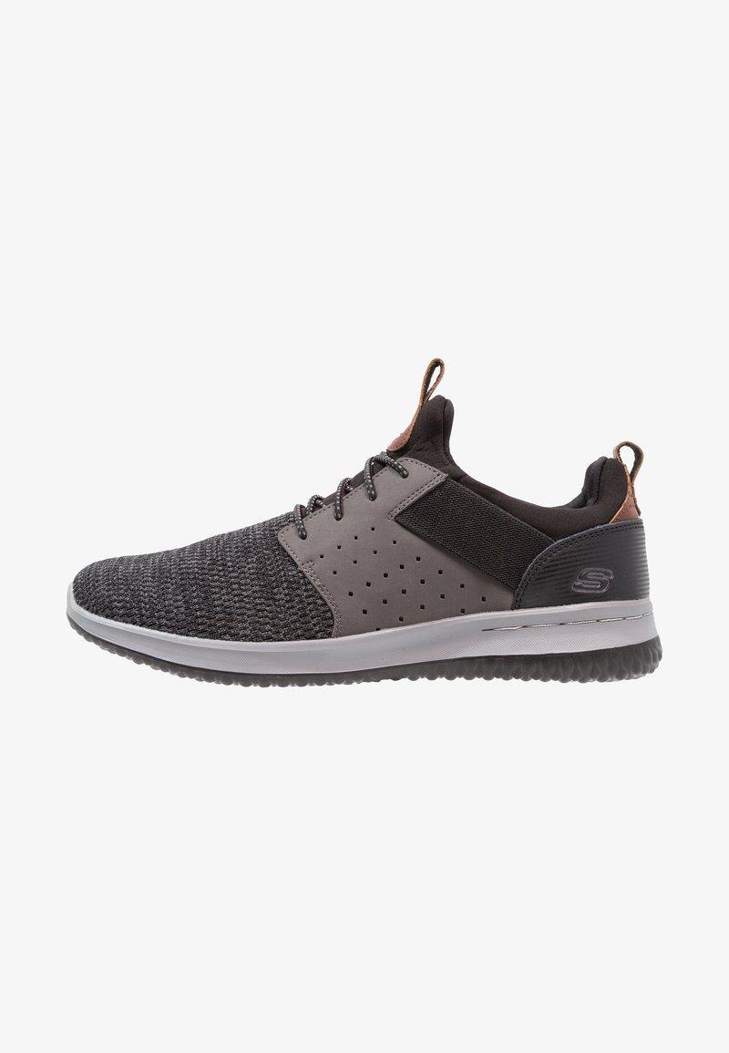 Skechers - DELSON - Loafers - black/grey