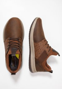 Skechers - DELSON AXTON - Slip-ons - dark brown - 1