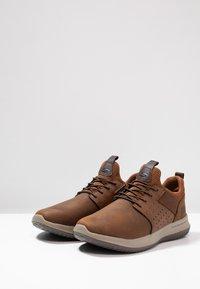 Skechers - DELSON AXTON - Slip-ons - dark brown - 2