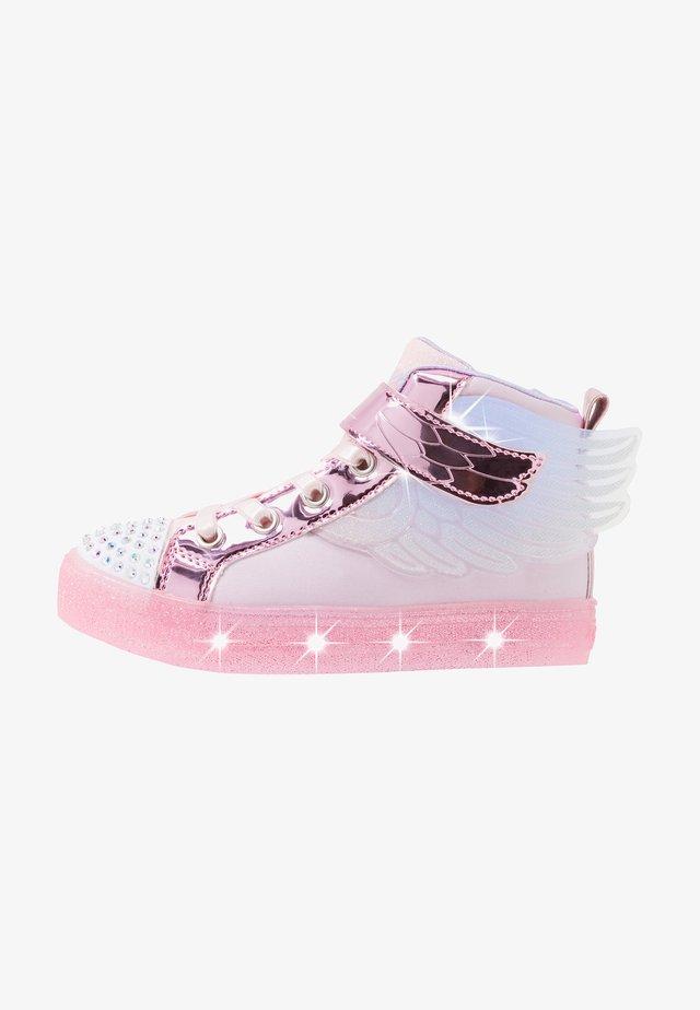 SHUFFLE BRIGHTS - Korkeavartiset tennarit - light pink