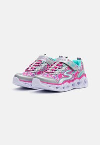Skechers - HEART LIGHTS - Tenisky - silver/multicolor - 1