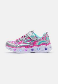 Skechers - HEART LIGHTS - Tenisky - silver/multicolor - 0