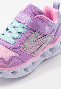 Skechers - HEART LIGHTS - Trainers - lavender/multicolor - 5