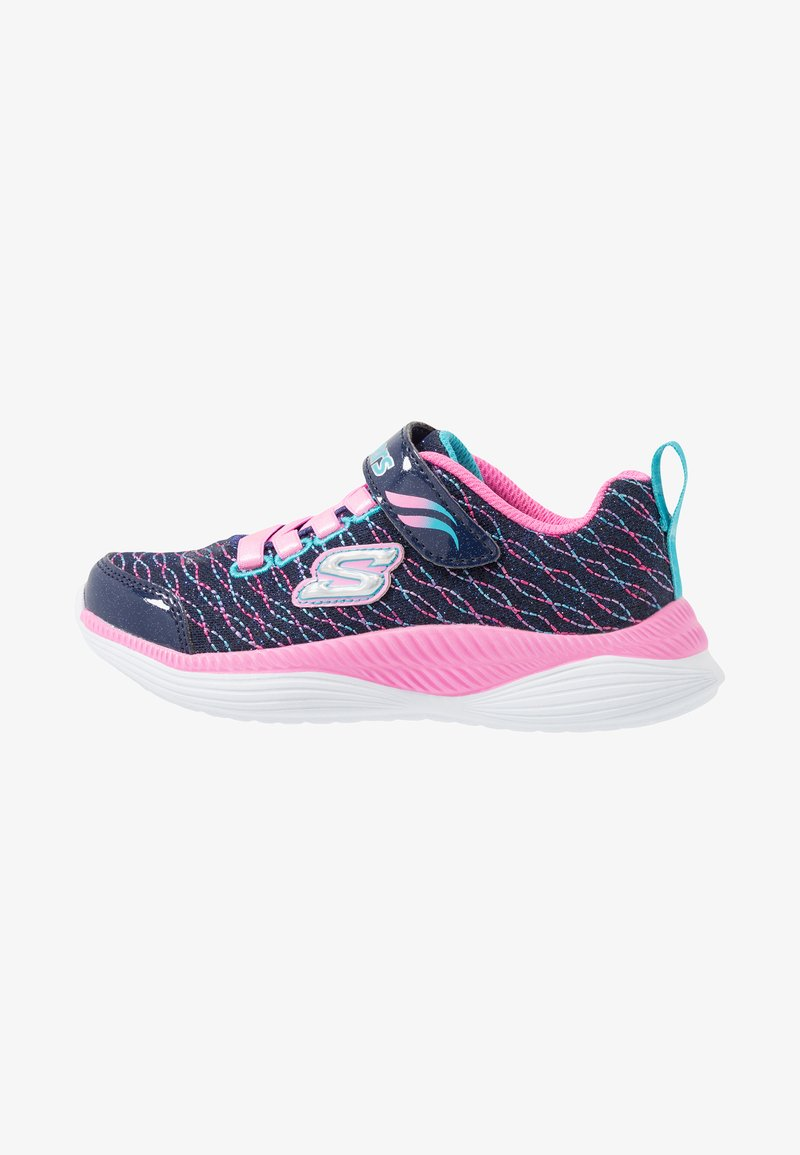 Skechers - MOVE 'N GROOVE - Trainers - navy sparkle/pink/multicolor