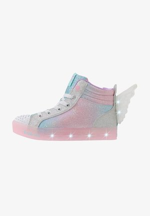SHUFFLE BRIGHTS - Korkeavartiset tennarit - light blue sparkle/silver/multicolor
