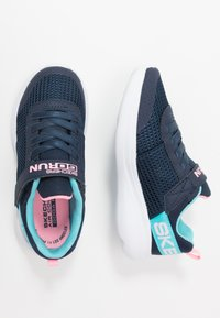 Skechers - GO RUN FAST - Trainers - navy/aqua - 0