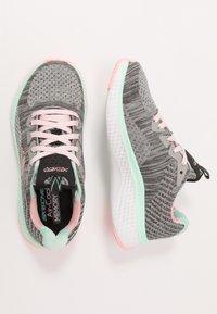 Skechers - SOLAR FUSE - Sneaker low - gray/black/ pink/mint - 0
