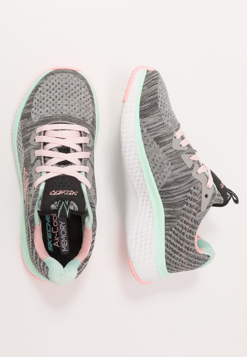 Skechers - SOLAR FUSE - Trainers - gray/black/ pink/mint