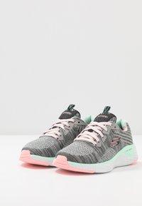 Skechers - SOLAR FUSE - Sneaker low - gray/black/ pink/mint - 3