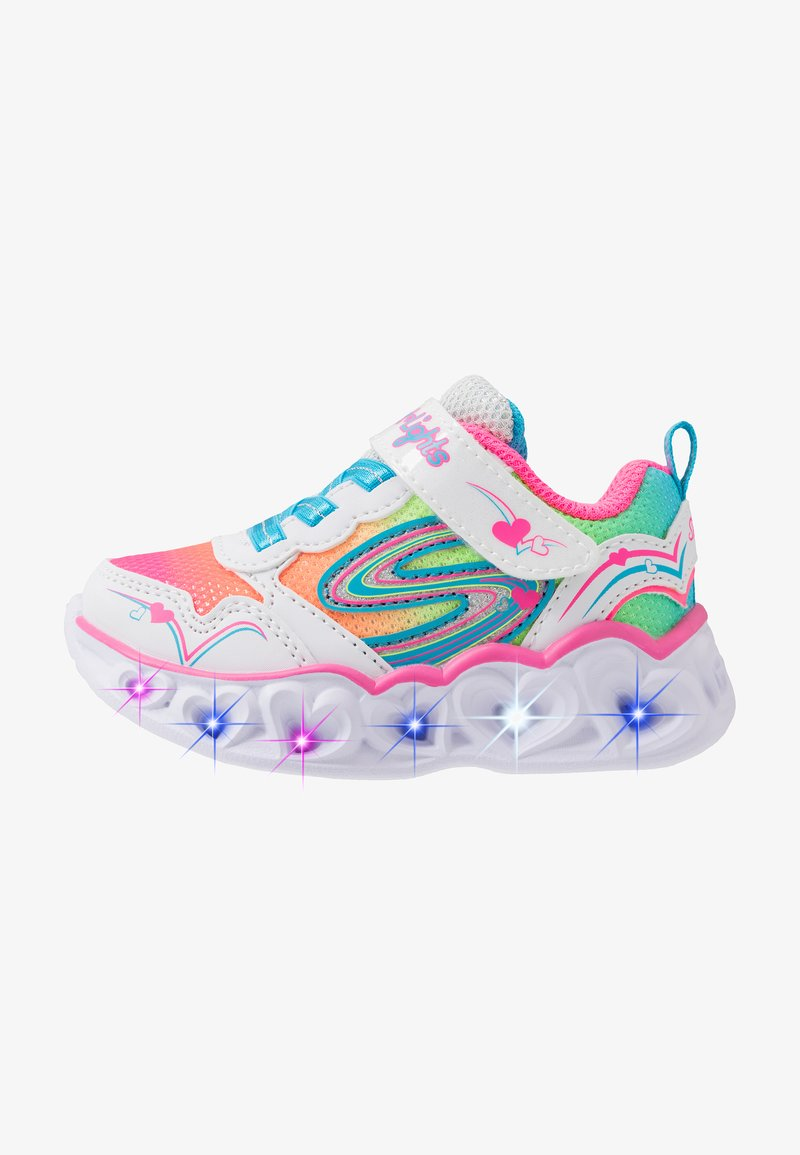 Skechers - HEART LIGHTS - Zapatillas - white/multicolor