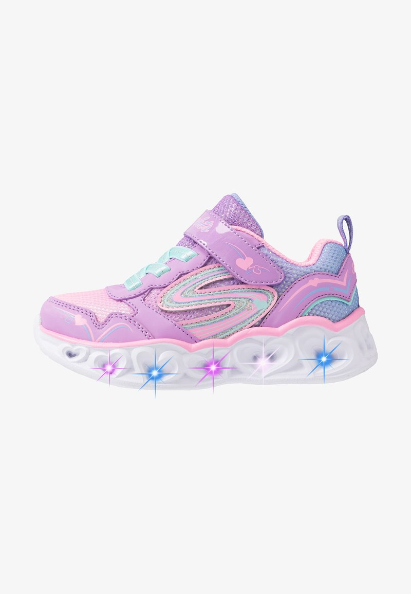 Skechers - HEART LIGHTS - Tenisky - lavender durasatin/multicolor sparkle