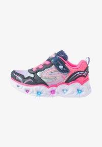 Skechers - HEART LIGHTS - Sneakers laag - neon pink/multicolor sparkle - 1