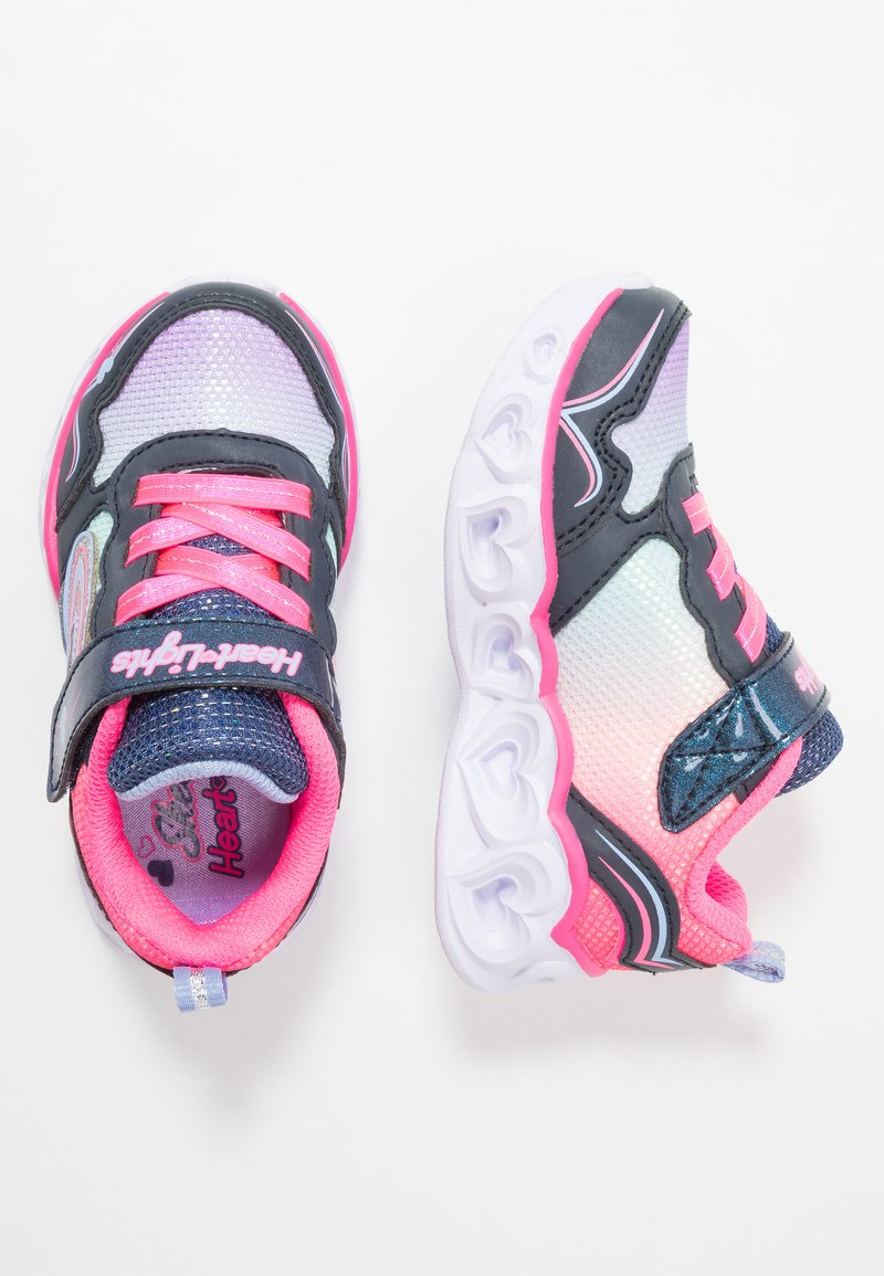 Skechers - HEART LIGHTS - Sneakers laag - neon pink/multicolor sparkle