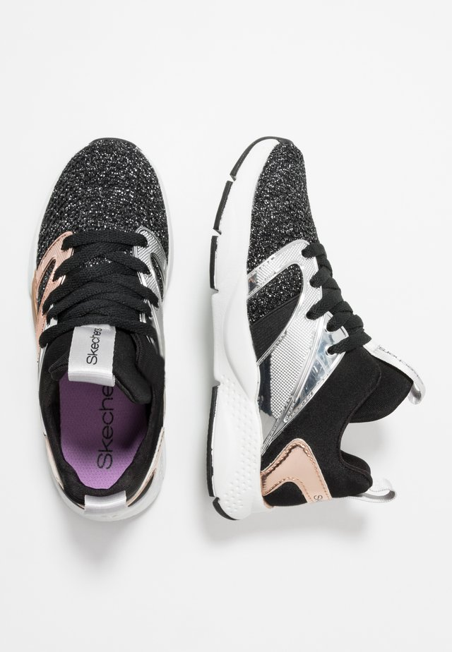 SHINE STATUS - Trainers - black sparkle/rose gold