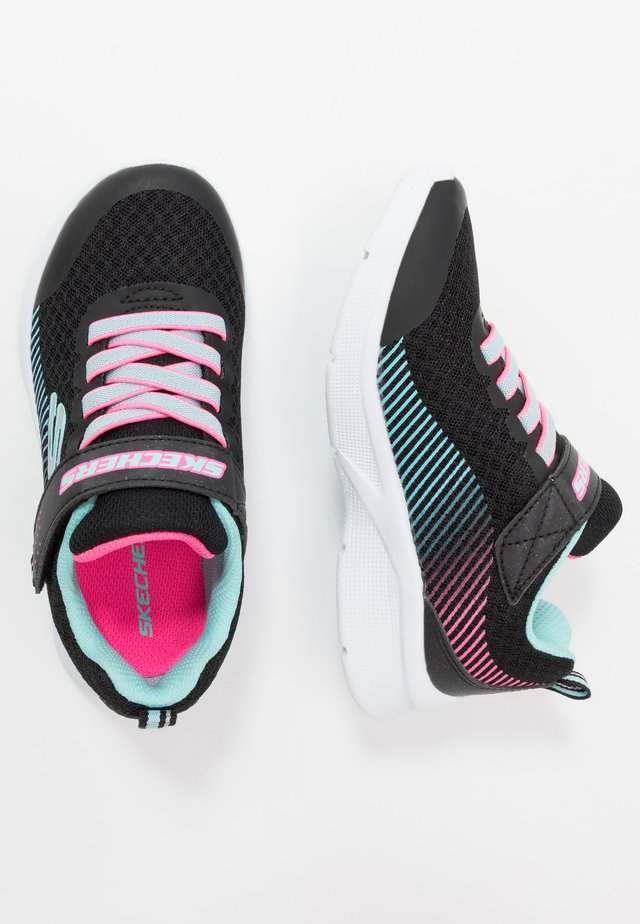 MICROSPEC - Sneaker low - black/aqua/neon pink