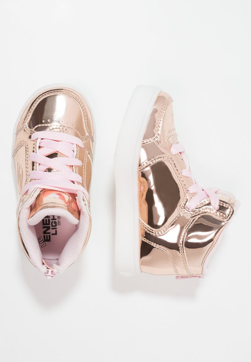 Skechers - ENERGY LIGHTS - High-top trainers - rose gold