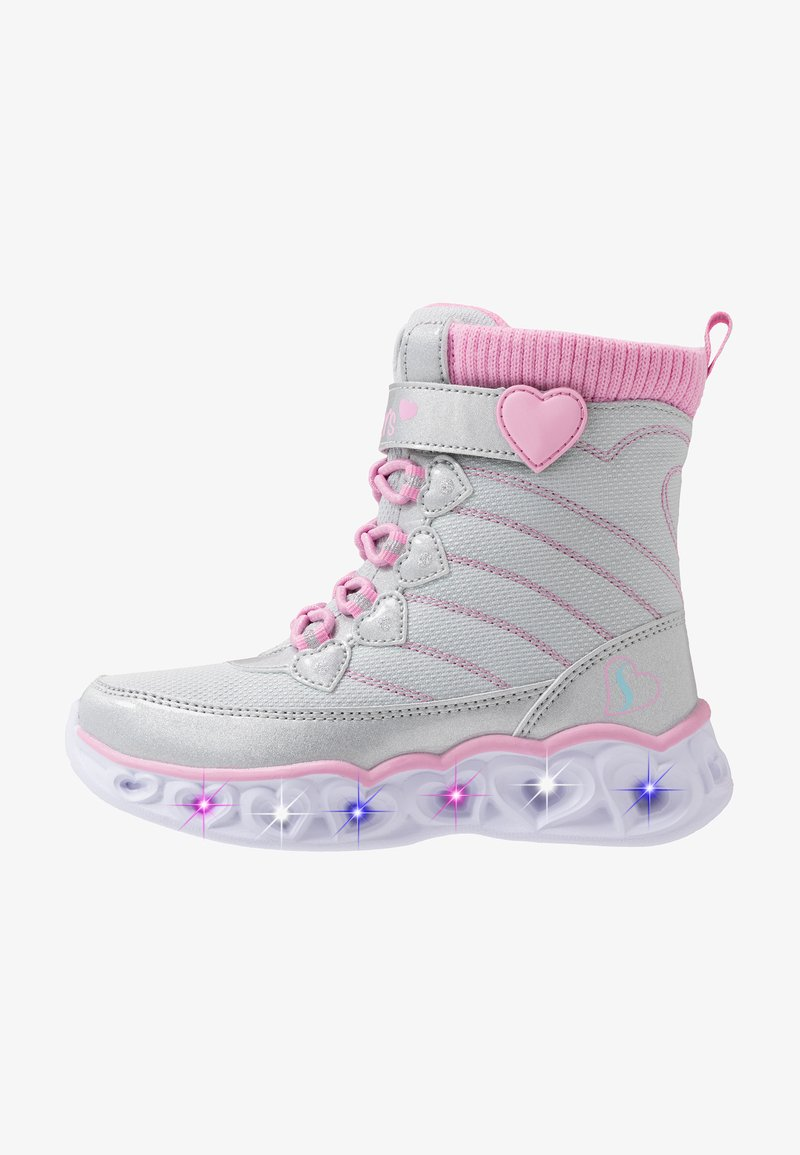 Skechers - HEART LIGHTS - Classic ankle boots - gray/pink