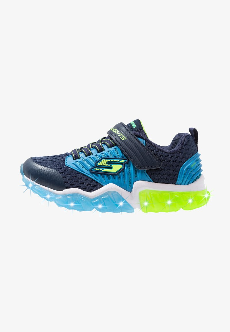 Skechers - RAPID FLASH - Trainers - navy/blue/lime
