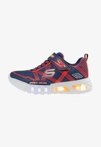 Skechers - FLEX-GLOW - Sneaker low - navy/red - 0