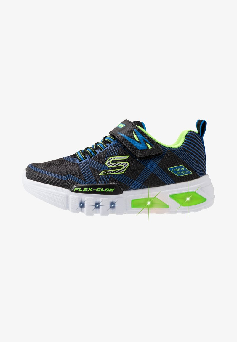 Skechers - FLEX-GLOW - Tenisky - black/blue/lime