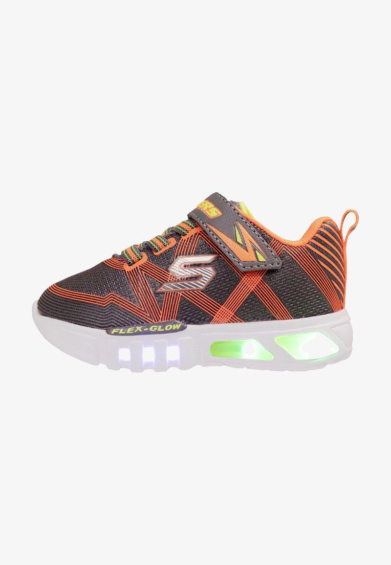 Skechers - FLEX-GLOW - Baskets basses - charcoal/orange/ silver